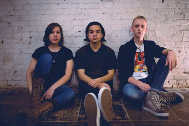 Sleepspsent members are Cecilia Otero (bass/synth), from left, Josh Mendoza (drums) and Austin North (guitar/vocals).
