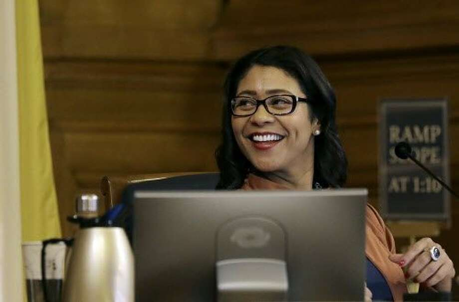London Breed has served as acting mayor of San Francisco since the death of Mayor Ed Lee. Now the Board of Supervisors must decide whether to allow her to remain in the mayor's office until the June 5 election. Photo: Jeff Chiu, Associated Press