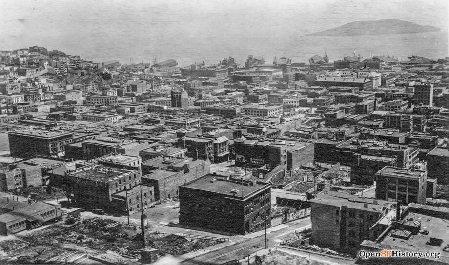 Then: The Occidental Mission HomeThe Occidental Mission Home (pictured in the center) was founded in 1874 by the Presbyterian church as a way to help young immigrant Asian girls escape slavery in San Francisco. The girls were typically sold by their own families, so it was the home's mission to rescue these girls and teach them skills and faith.In 1895, Donaldina Cameron, whom the home was later named after, arrived at the home to teach the girls sewing and because a superintendent two years later. Cameron was instrumental in rescuing the girls from violence and abuse, and it's estimated she rescued 3,000 girls from an ill fate.In this image from 1910, you can see the Donaldina Cameron House in foreground.  Courtesy ofOpenSFHistory. Photo: OpenSFHistory