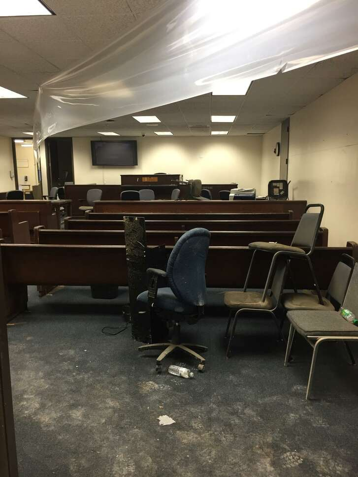 The Harris County Justice of the Peace Precinct 4, Place 1 courthouse in Spring expects to re-open to the public in early2018 after sufferingflood damageduring Hurricane Harvey, said Judge Lincoln Goodwin. The courthouse will replace drywall, carpet, tile and more before the staff can return.