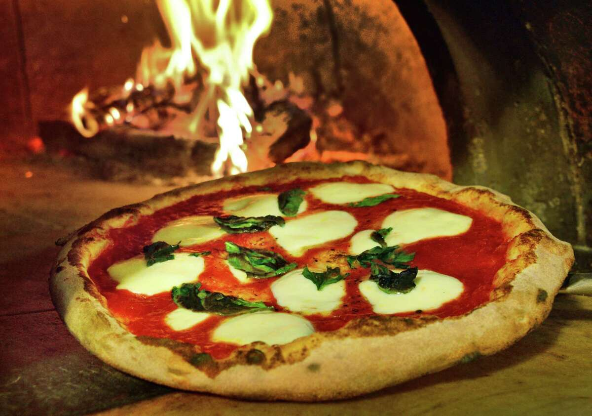 A wood fired Margherita pizza at AnnaOs Pizza in Galleria 7 Friday Jan. 5, 2018 in Colonie, NY.