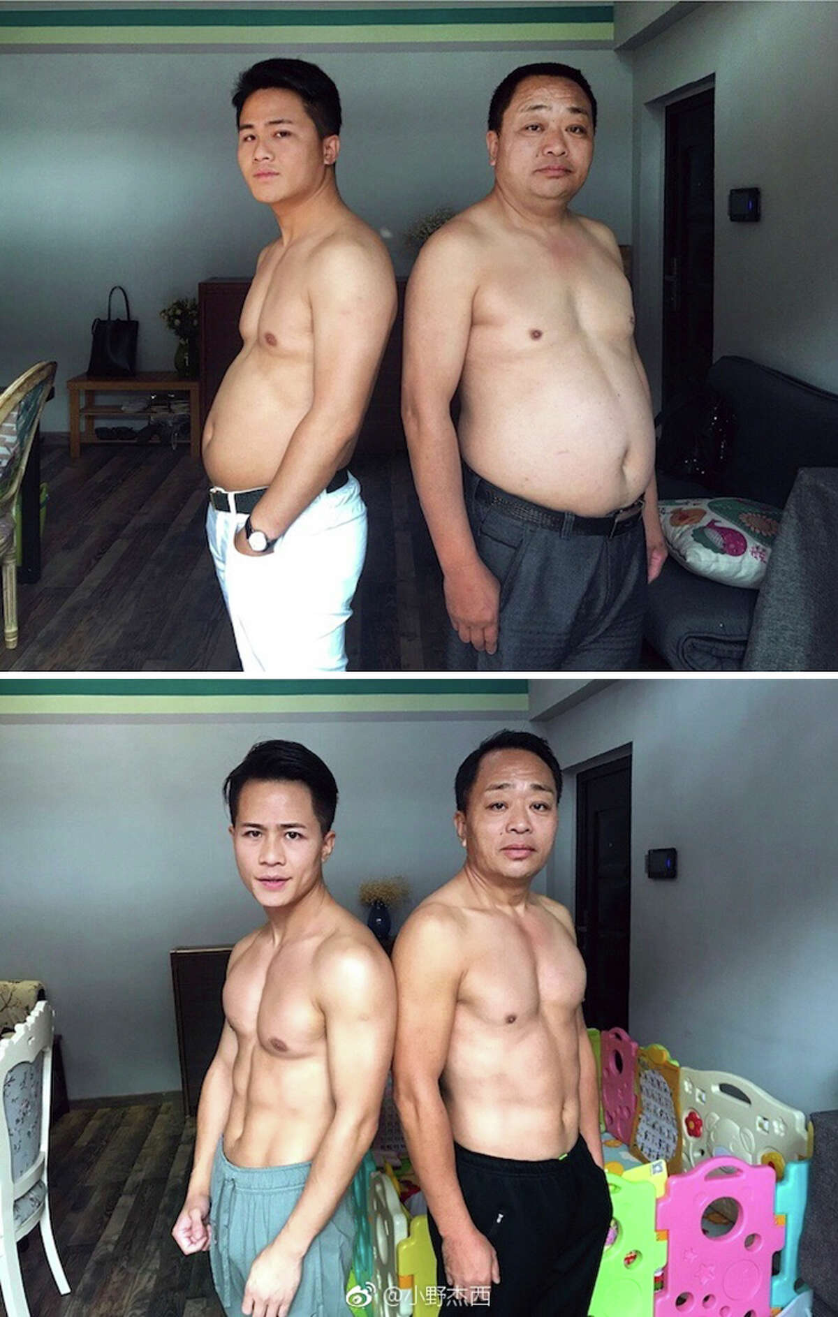 His father was the most transformed. Chinese photographer Jesse Ding documented the progress of his family's joint fitness and weight-loss program over six months.