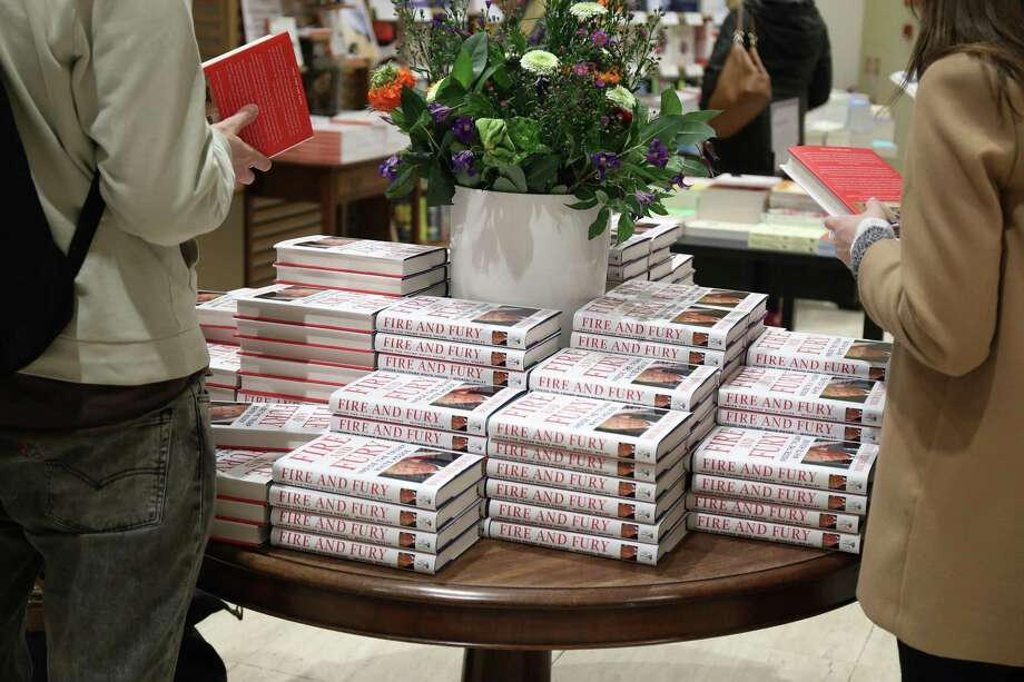 An in-store display at Waterstone's Piccadilly shows copies of one of the UK's first consignments of 'Fire and Fury: Inside the Trump White House' by Michael Wolff on Tuesday in London. But the book tells us what we already knew. Photo: Neil P. Mockford /Getty Images / 2018 Getty Images