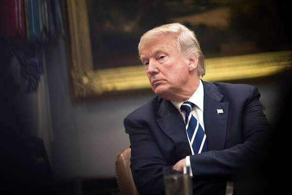 President Donald Trump during a prison reform roundtable discussion inside the Roosevelt Room at the White House in Washington, Jan. 11, 2018. (Tom Brenner/The New York Times)