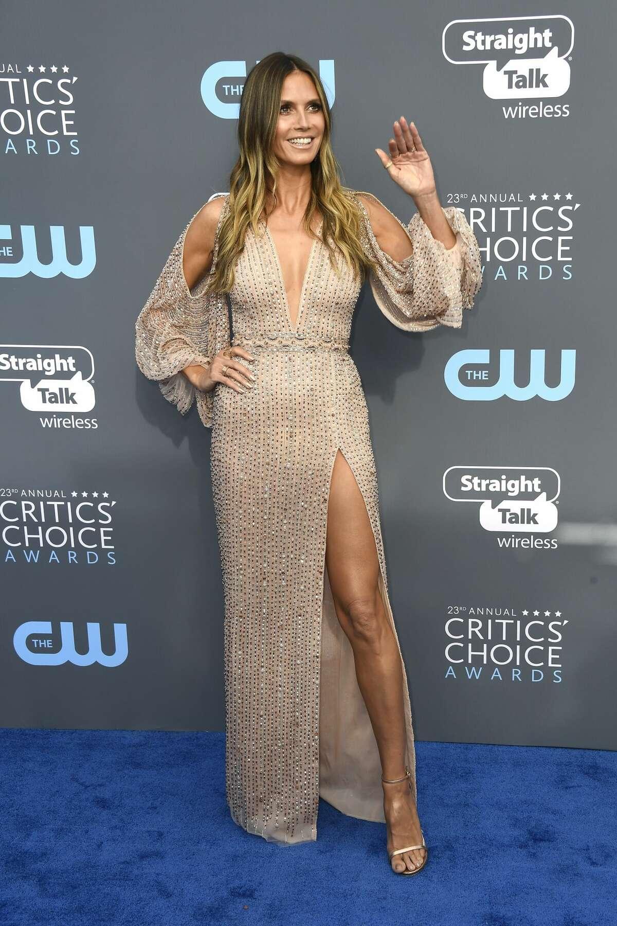 Best:Heidi Klum looks like coffee swirl cake.
