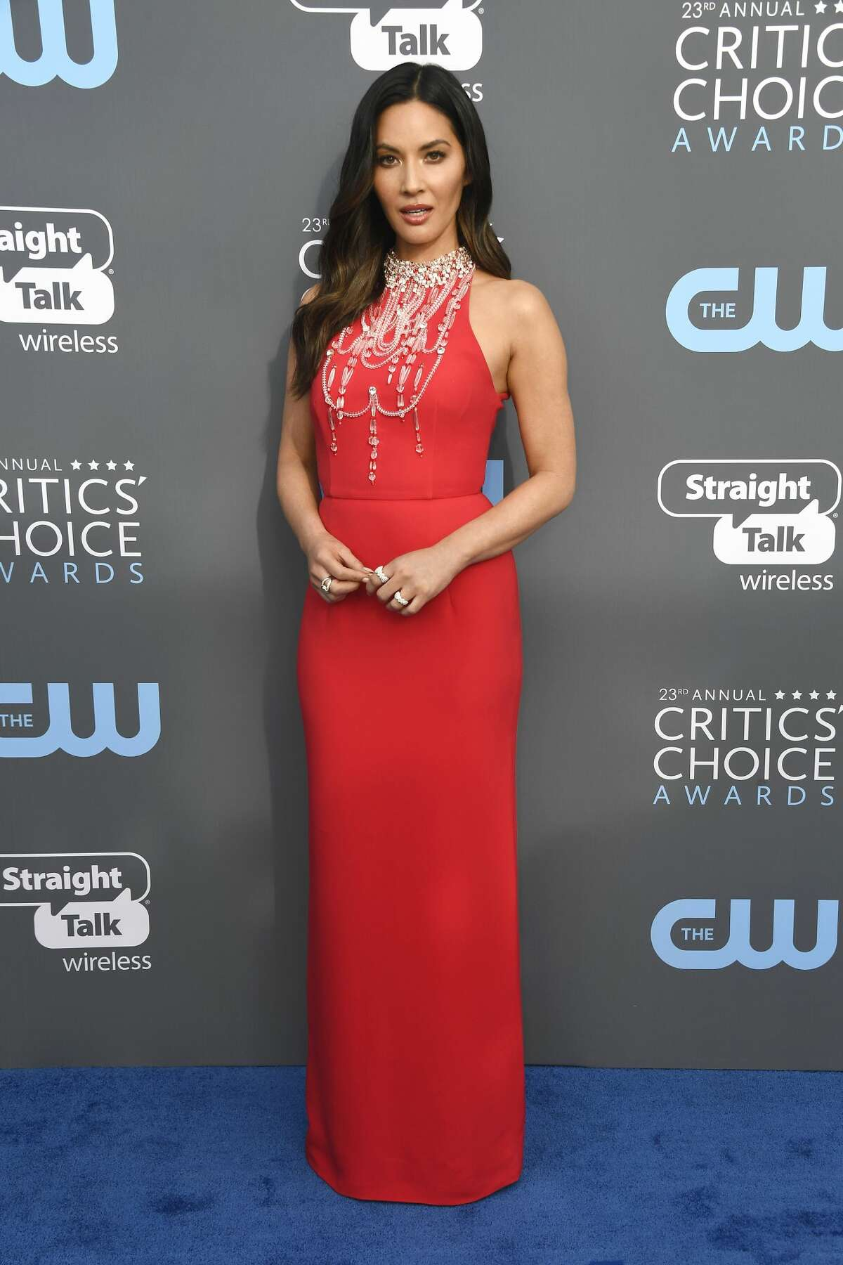 Worst:Olivia Munn, there was no need to put a chandelier on your dress, you were the star tonight.