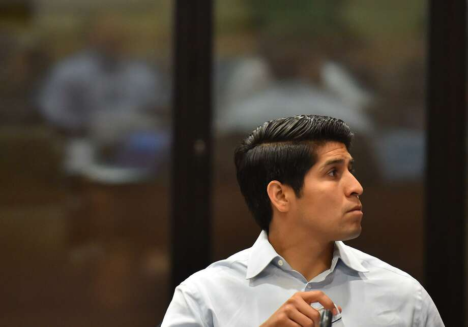 District 4 councilman Rey Saldana listens during the City Council Fiscal year 2018 Budget Goal-Setting Session Wednesday in the Lonesome Dove Room of the Henry B. Gonzalez Convention Center. Photo: Robin Jerstad, Freelance / San Antonio Express News / ROBERT JERSTAD