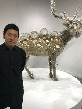 "Kohei Nawa and ""PixCell-Maral Deer"" at SF FOG Design + Art."