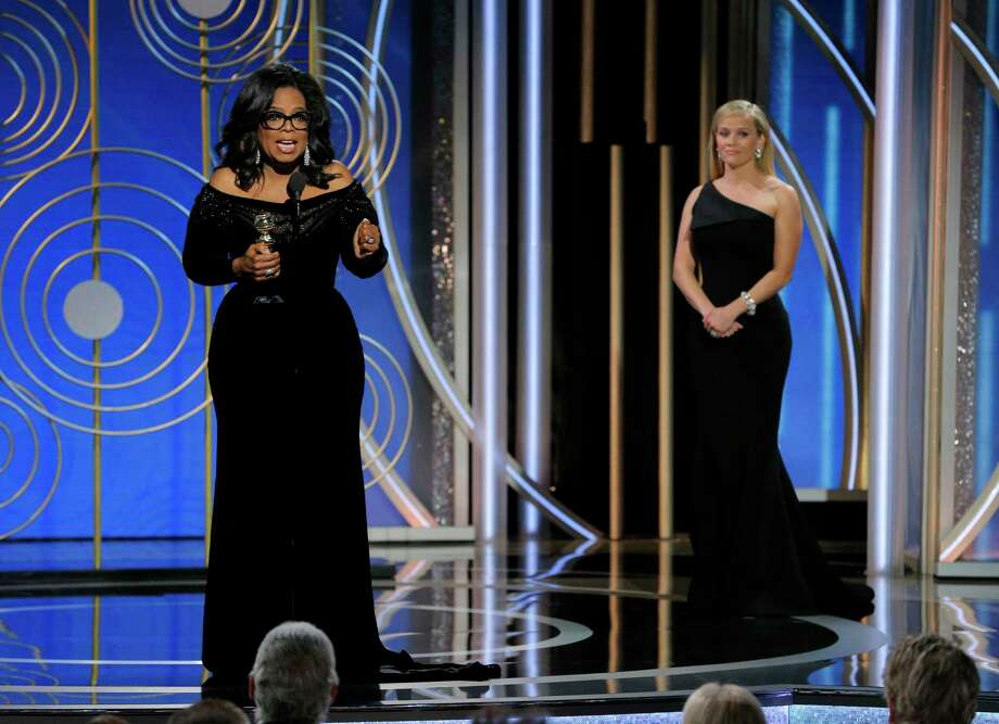 Oprah Winfrey's acceptance speech for the Cecil B. DeMille lifetime achievement award sparked conversations nationwide about a 2020 presidential campaign. (Paul Drinkwater/NBC via AP) Photo: Paul Drinkwater, HONS / 2018 NBCUniversal Media, LLC