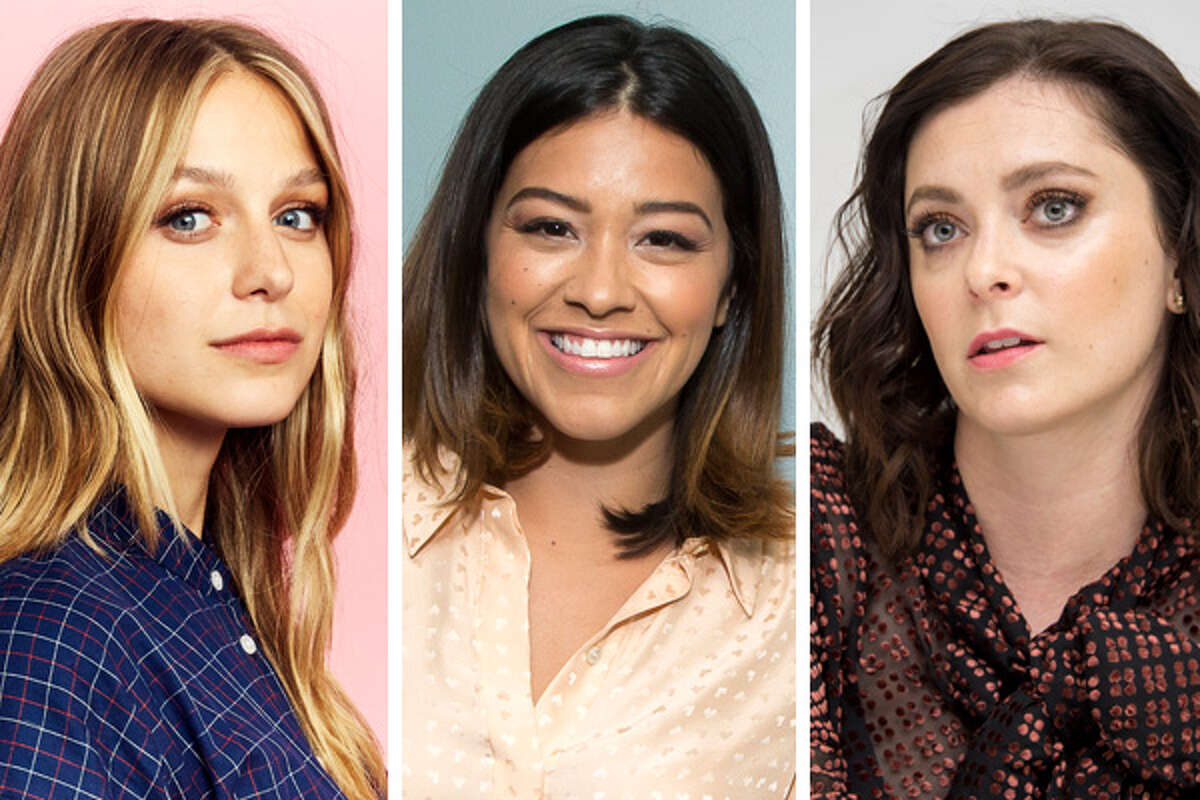 """Lead actors (from left) Melissa Benoist (""""Supergirl"""") and Golden Globe winners Gina Rodriguez (""""Jane the Virgin"""") and Rachel Bloom (""""Crazy Ex-Girlfriend"""") top a strong lineup of women in prominent roles at The CW. Here are the series and players making that happen."""