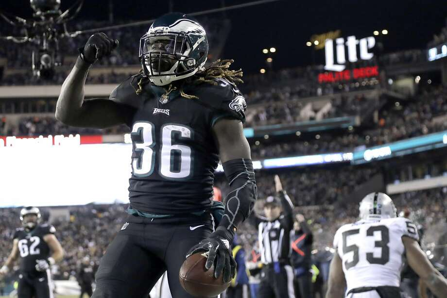 Eagles' Jay Ajayi was traded from Miami halfway through the season, and could emerge as a key weapon for the Eagles. Photo: Michael Perez, Associated Press