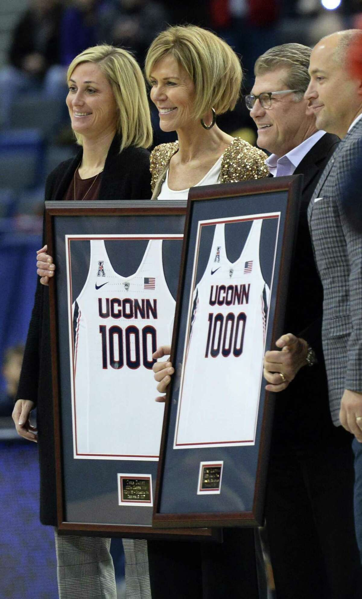 UConn associate head coach Chris Dailey, second from left, was named a finalist for the Women's Basketball Hall of Fame Class of 2018.