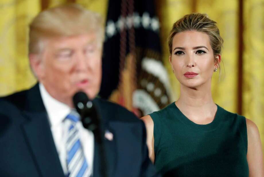 FILE - In this Aug. 1, 2017, file photo, Ivanka Trump listens as her father President Donald Trump speaks in the East Room of the White House in Washington. Rep. Adam Schiff, the top Democrat on the House intelligence committee, said Thursday, Jan. 11, 2018, that Republicans have declined to invite several witnesses that would be valuable to the probe, including Ivanka Trump and several people who he says have additional information about a June 2016 meeting between Russians and the Trump campaign. (AP Photo/Alex Brandon, File) Photo: Alex Brandon, STF / Copyright 2017 The Associated Press. All rights reserved.