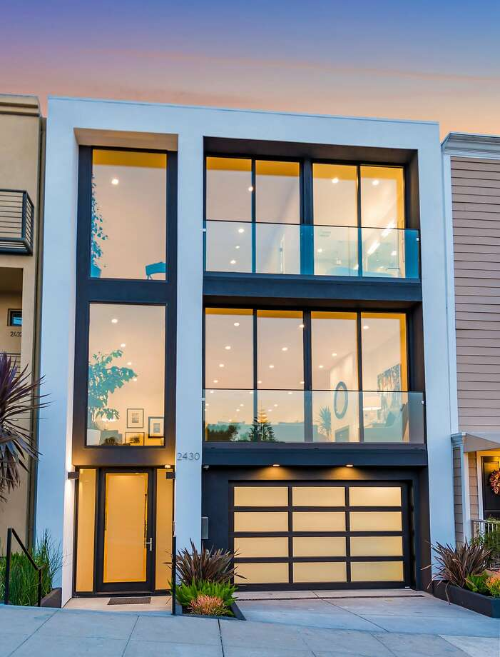 2430 Castro St. in Noe Valley is a four-bedroom contemporary available for $4.395 million. Photo: Olga Soboleva / Vanguard Properties