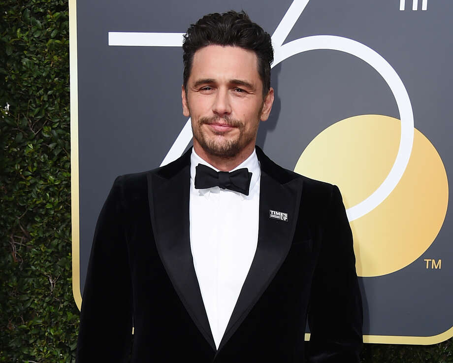 "FILE - In this Jan. 7, 2018 file photo, James Franco arrives at the 75th annual Golden Globe Awards in Beverly Hills, Calif. Facing accusations by an actress and a filmmaker over alleged sexual misconduct, James Franco said on CBS' ""The Late Show with Stephen Colbert"" on Tuesday the things he's heard aren't accurate but he supports people coming out ""because they didn't have a voice for so long."" (Photo by Jordan Strauss/Invision/AP, File) Photo: Jordan Strauss, INVL / 2018 Invision"