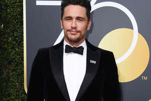 "FILE - In this Jan. 7, 2018 file photo, James Franco arrives at the 75th annual Golden Globe Awards in Beverly Hills, Calif. Facing accusations by an actress and a filmmaker over alleged sexual misconduct, James Franco said on CBS' ""The Late Show with Stephen Colbert"" on Tuesday the things he's heard aren't accurate but he supports people coming out ""because they didn't have a voice for so long."" (Photo by Jordan Strauss/Invision/AP, File)"