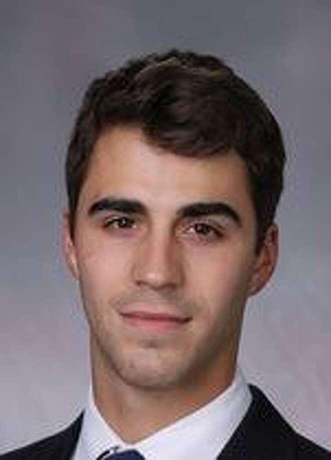 Yale goalie Corbin Kaczperski. Photo: Courtesy Of Yale Athletics