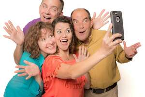 "From left: Deborah Russo, David Goodwin,�Lisa McHenry and Kim Larsen�in ""Megabytes! The Musical"" at Shelton Theater."