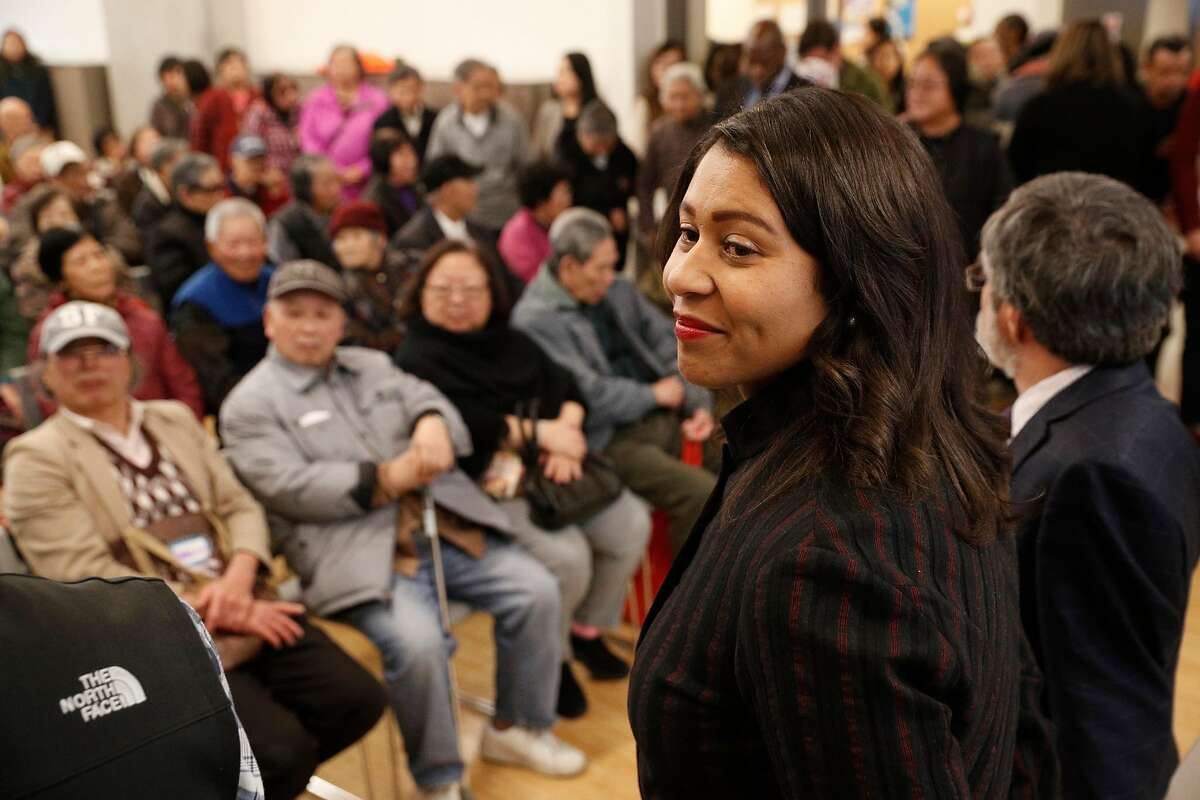 San Francisco's acting Mayor London Breed announced her intentions to endorse a plan to rename Portsmouth Square Plaza in Chinatown after Mayor Ed Lee, during a Portsmouth Square Plaza community meeting, on Thursday, Jan. 11, 2018 in San Francisco, California.