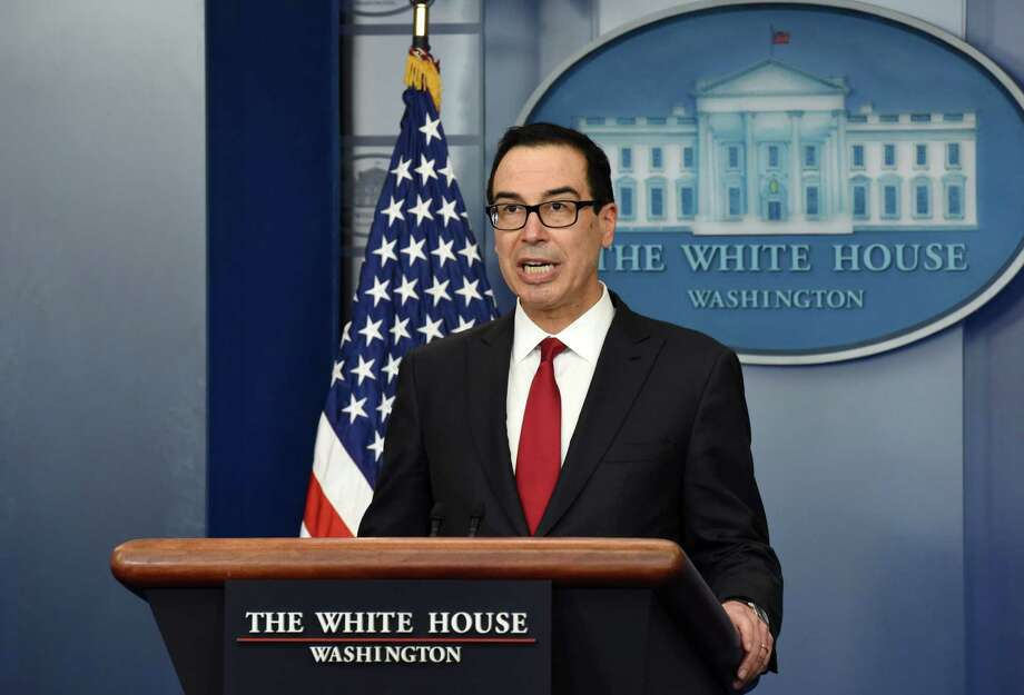 Treasury Secretary Steven Mnuchin answers  questions from reporters during Press Briefing of the White House Jan. 11, 2018 in Washington, D.C. (Olivier Douliery/Abaca Press/TNS) Photo: Olivier Douliery, MBR / Abaca Press
