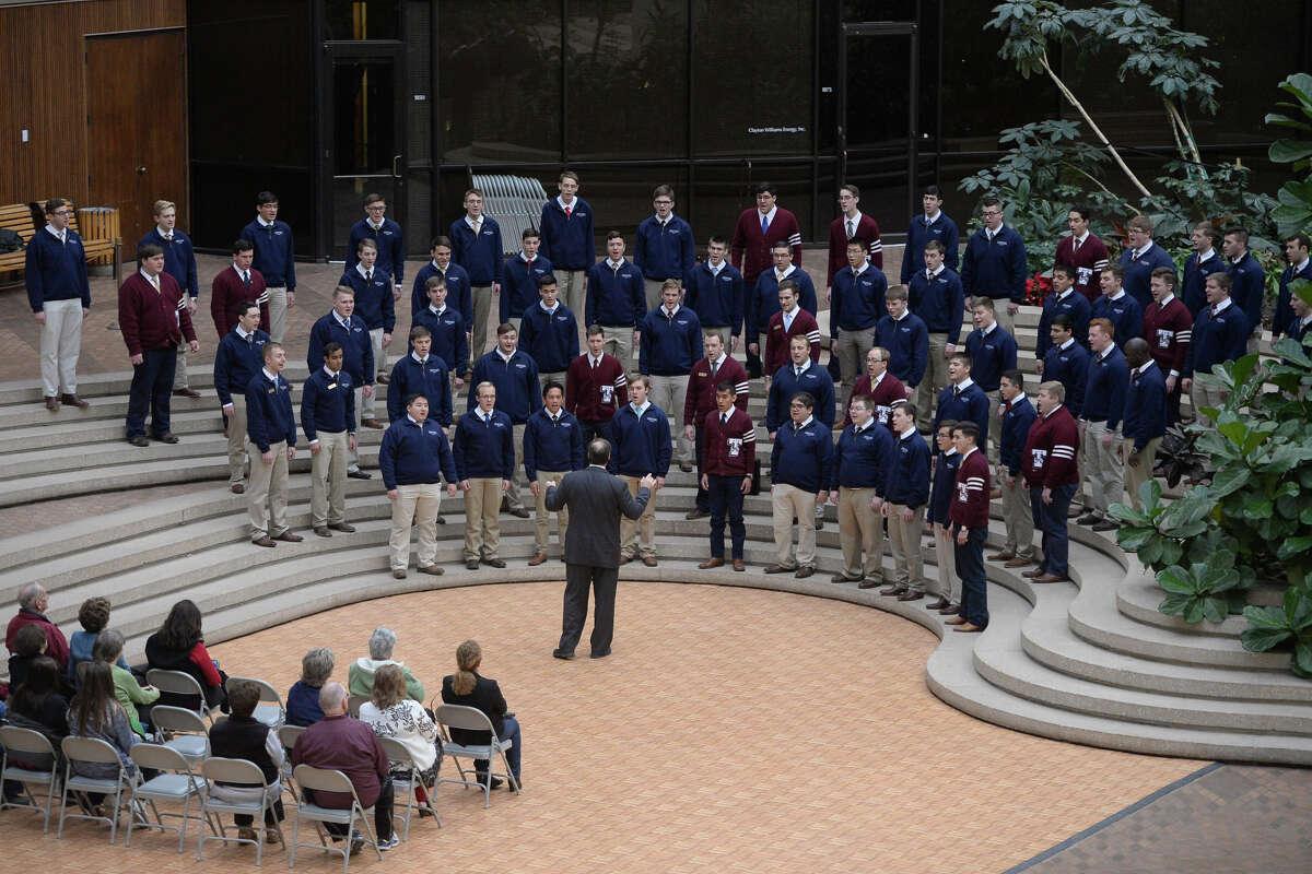 Texas A&M University's Singing Cadets put on a show at Claydesta Center Jan. 11, 2018. James Durbin/Reporter-Telegram