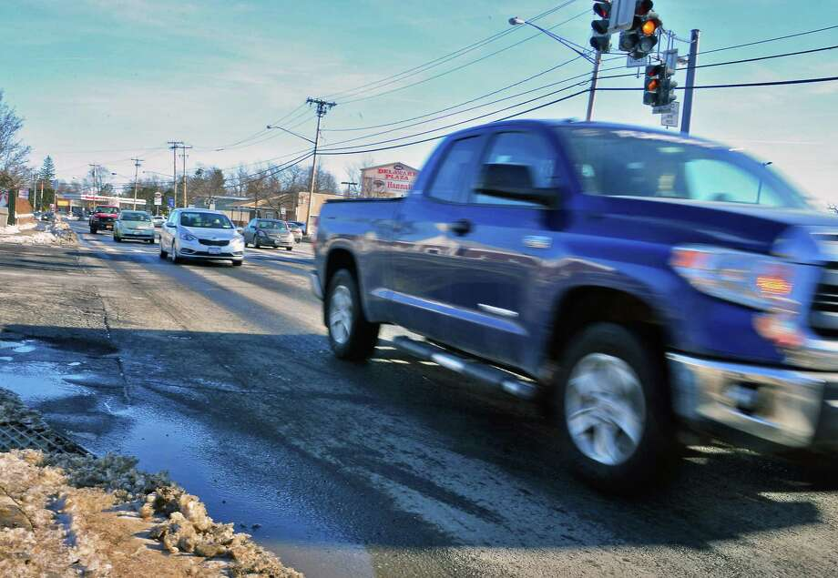 Traffic pours through the the four lane portion of Delaware Avenue Wednesday Jan. 10, 2018 in Bethlehem, NY.  (John Carl D'Annibale/Times Union) Photo: John Carl D'Annibale / 20042624A