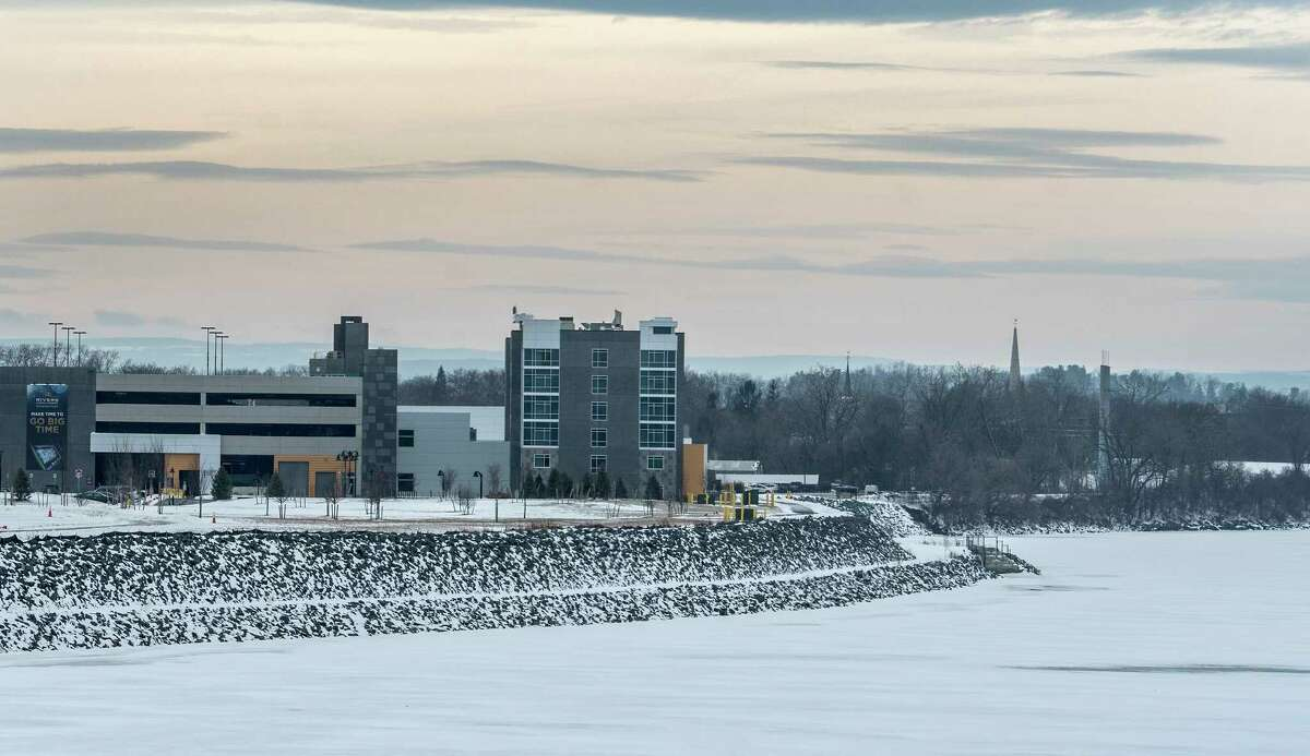 Rivers Casino sits on the shore of the Mohawk River in the Thursday Jan 11, 2018 in Schenectady, N.Y. (Skip Dickstein/ Times Union)