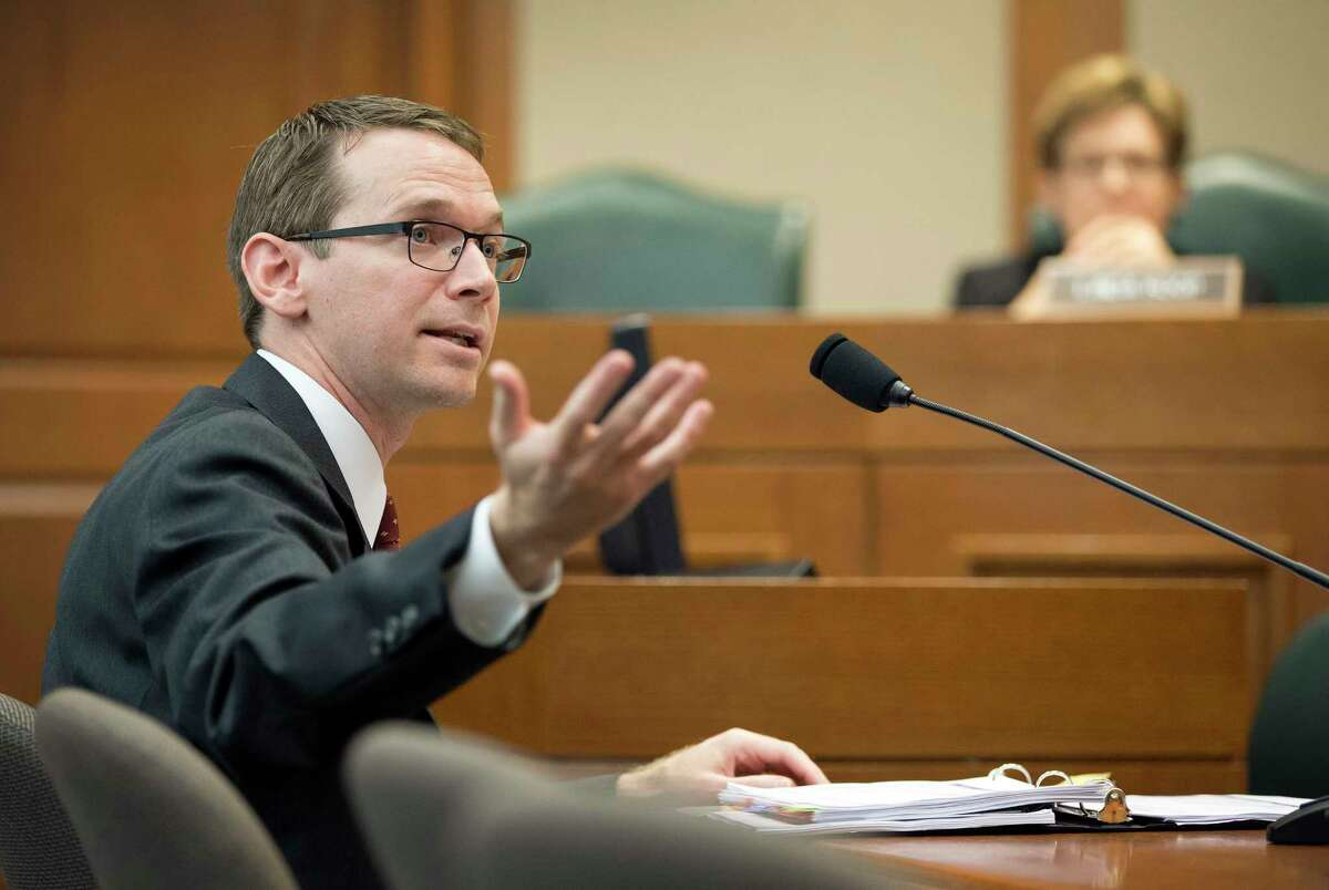Texas Education Agency Commissioner Mike Morath, shown at a House Public Education Committee hearing in October, said the agency has added 39 special ed staffers in the past year.