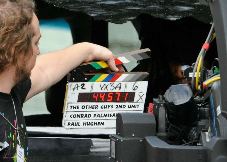 """With a shout of """"Action,"""" filming began Sept. 24,   for """"The Other Guys"""" on Broadway in Albany. Click though our gallery of other movies filmed in the Capital Region. Photo: SKIP DICKSTEIN / 2008"""