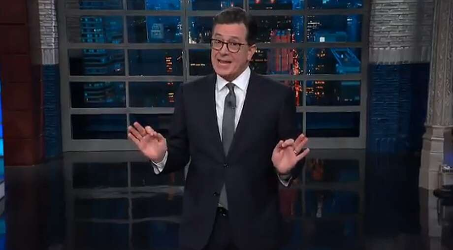 "Stephen Colbert used the opening monologue of ""The Late Show"" to 