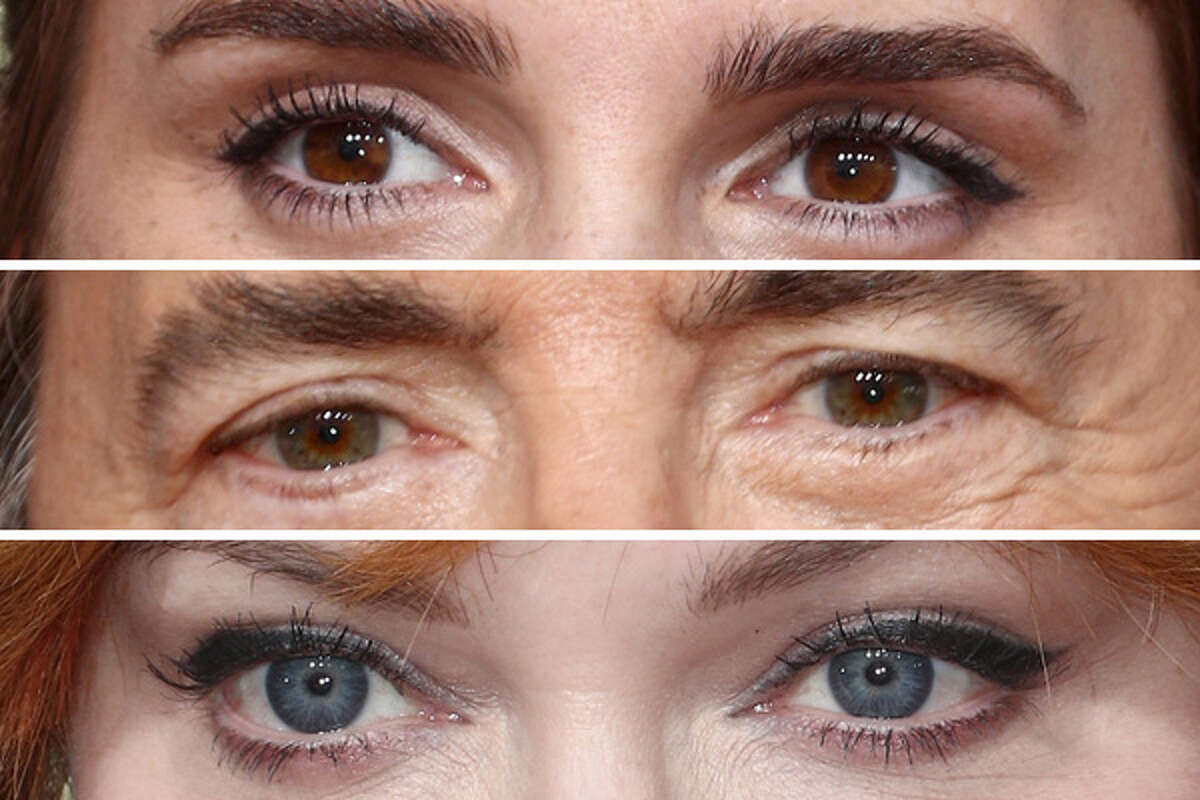 We took several close-up photos from the red carpet at the 2018 Golden Globe Awards and got even closer, cropping around the eyes. Without the rest of the face for context, they're like photos of completely different people. Can you tell which pair of eyes belong to which celebrity? We'll show you the eyes first, then the rest of the celebrity's face.