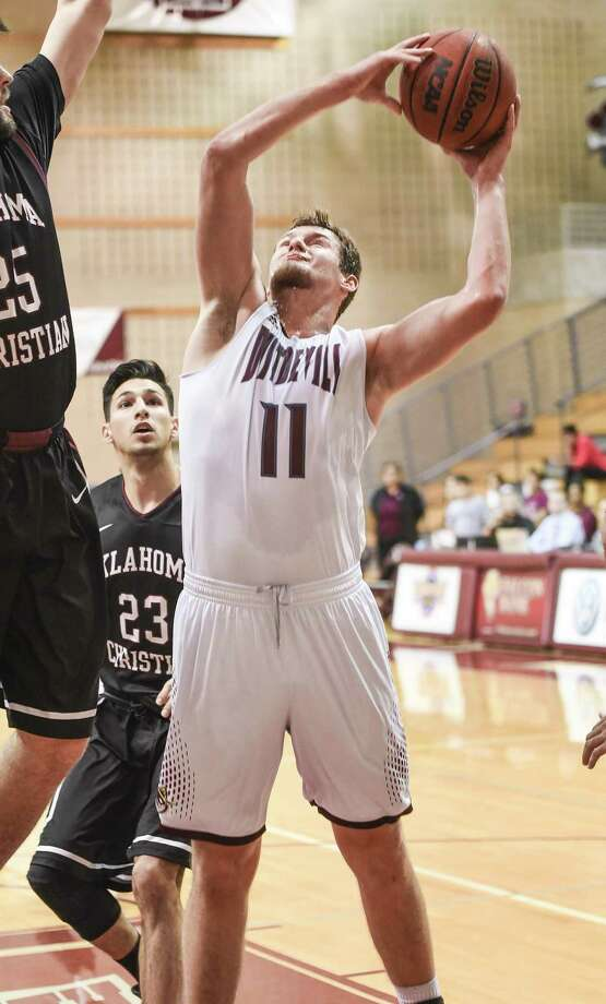 Senior Dan Milota finished with 10 points and four rebounds in the Dustdevils' 62-60 loss to Oklahoma Christian. TAMIU is now 0-4 in conference play for the first time, extending its worst start ever. Photo: Danny Zaragoza /Laredo Morning Times