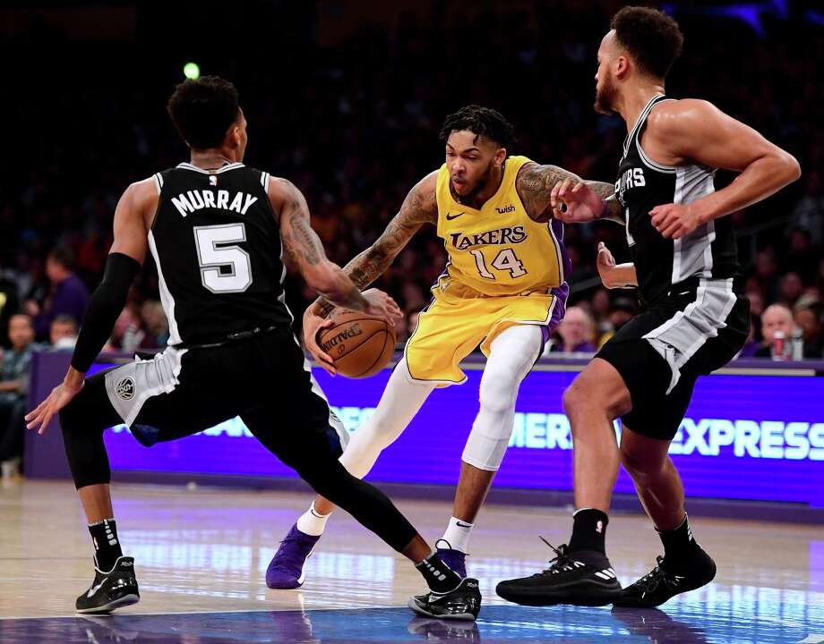 Los Angeles Lakers: Brandon Ingram, Kyle Kuzma and Luol Deng, plus a first-round pick. But for this to happen, the Spurs would need to tweak the deal or involve a third team to comply with league salary cap rules. Photo: Harry How, Getty Images / 2018 Getty Images