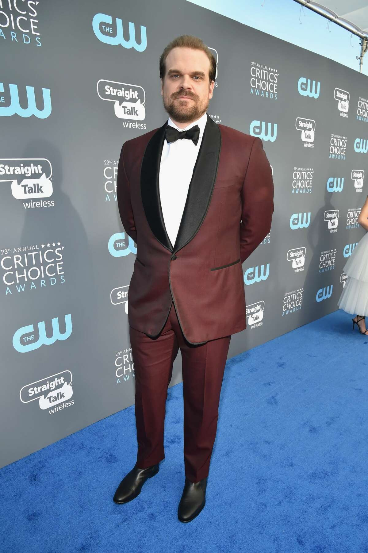 Actor David Harbour attends The 23rd Annual Critics' Choice Awards at Barker Hangar on January 11, 2018 in Santa Monica, California. (Photo by Kevin Mazur/WireImage)