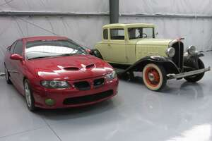 WHM president, Sean Tajipour's 2006 Pontiac GTO & 1932 Pontiac were at display at Collector's Paddock post Hurricane Harvey.