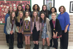 The Liberty Middle School eighth-grade girls' basketball team was recognized Monday night during the Edwardsville District 7 Board of Education meeting for winning the Illinois Elementary School Association Class 4A state championship.