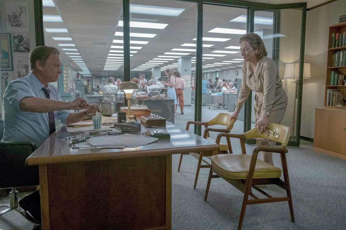 "Tom Hanks as Ben Bradlee and Meryl Streep as Katharine Graham in ""The Post."" MUST CREDIT: Niko Tavernise, 20th Century Fox"