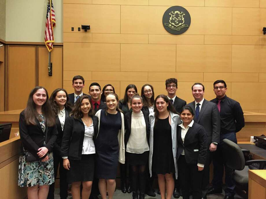 The Westhill High School mock trial team has advanced to the next round of competition. Photo: Contributed Photo