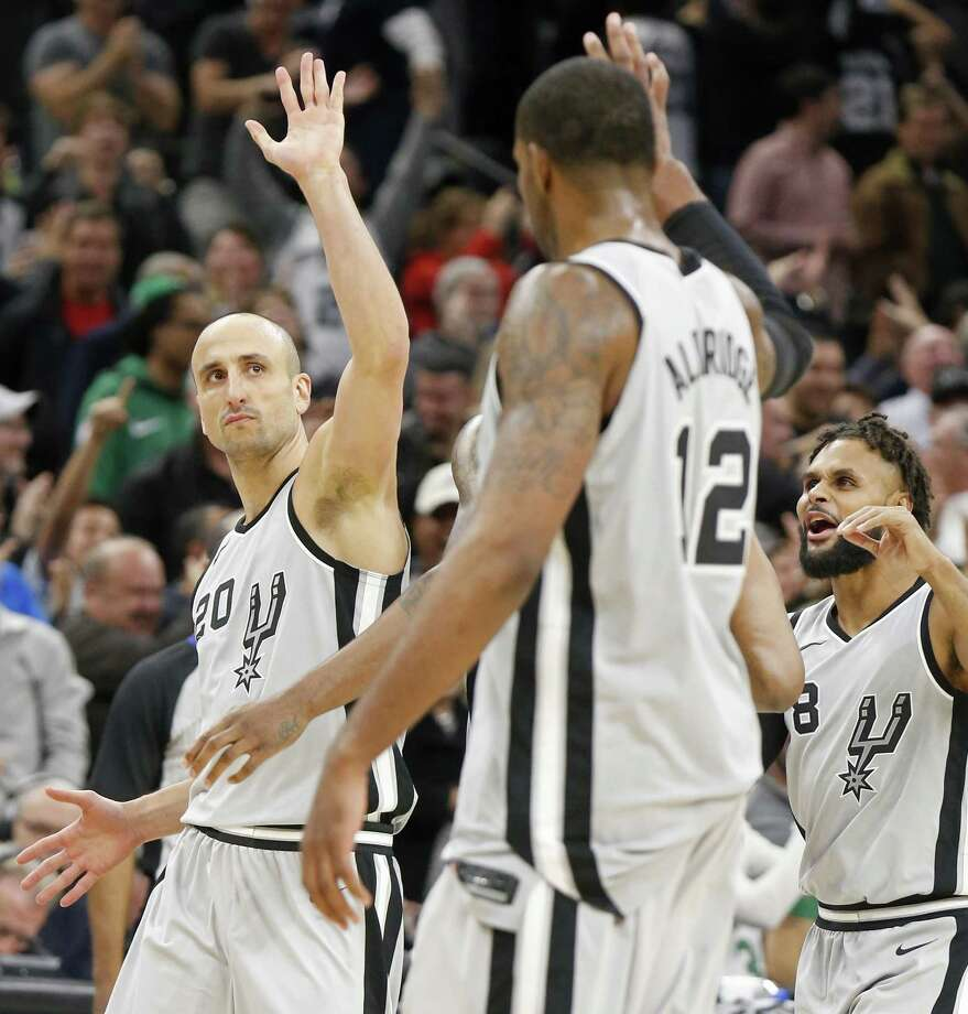 Manu Ginobili, 40, might he positioning himself to outlast Pau Gasol and Tony Parker. Photo: Edward A. Ornelas /San Antonio Express-News / © 2017 San Antonio Express-News