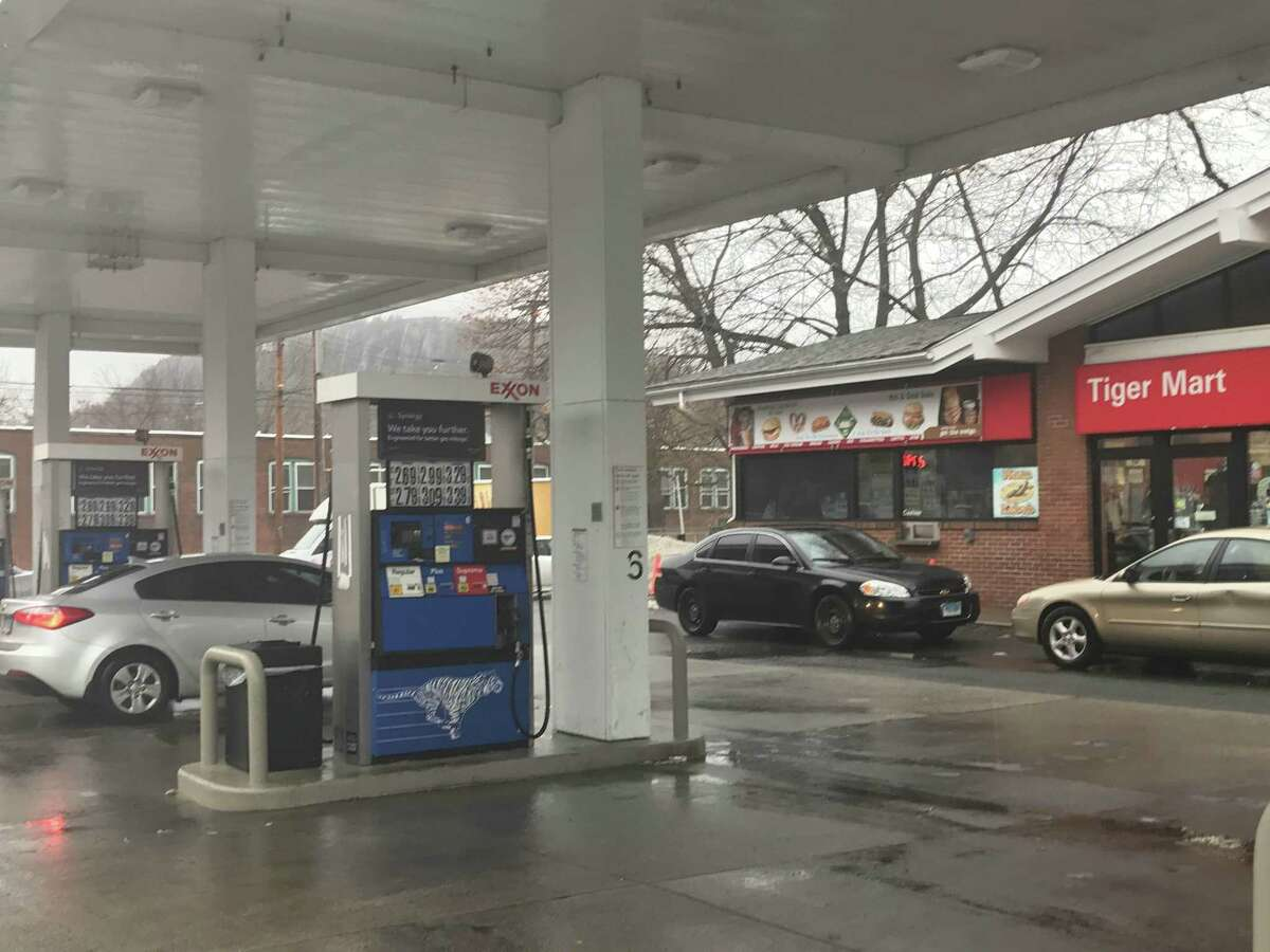 The Exxon station at Whalley Avenue and Fitch Street in New Haven.