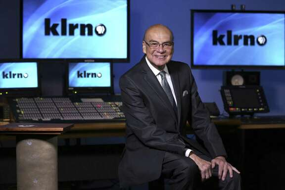 KLRN television president and CEO Arthur Rojas Emerson poses Thursday Jan. 4, 2018 in the production room of the PBS broadcaster's downtown studio and offices.