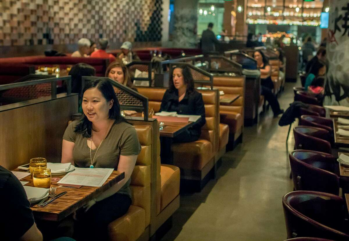 People have dinner at International Smoke in San Francisco, Calif. on January 6th, 2018.