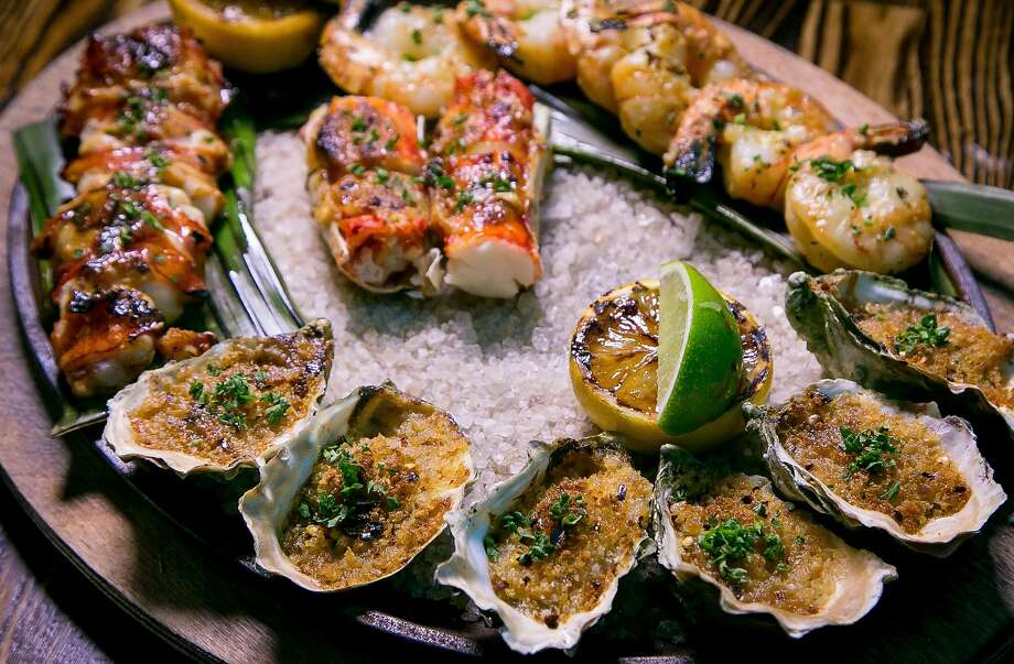 Charcoal-grilled shellfish platter at International Smoke. Photo: John Storey, Special To The Chronicle