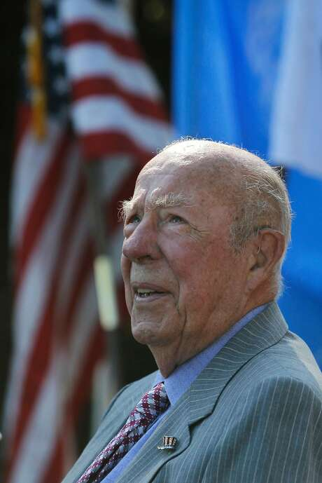 George Shultz, who was honored at a California Historical Society gala, paid tribute to Alexander Hamilton. Photo: Paul Chinn, The Chronicle