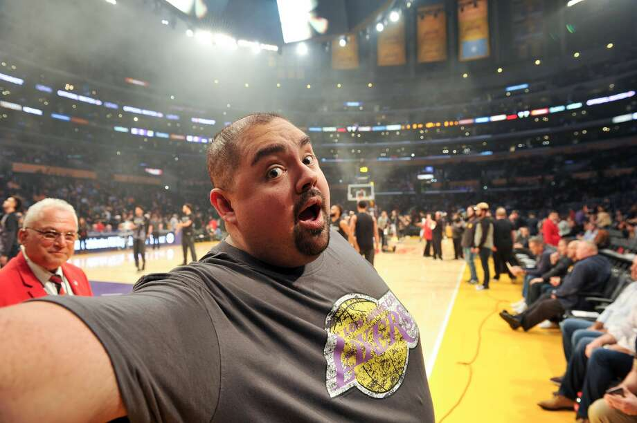 Comedian Gabriel Iglesias aka Fluffy attends a basketball game between the Los Angeles Lakers and the San Antonio Spurs at Staples Center on January 11, 2018 in Los Angeles, California. Photo: Allen Berezovsky/Getty Images