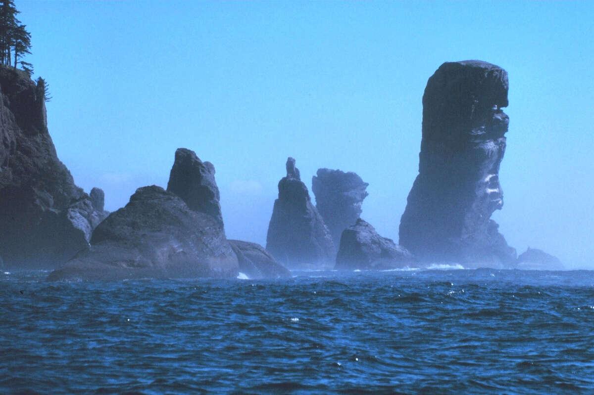 Fuca Pillar at Cape Flattery, the northwest corner of the Olympic Peninsula.