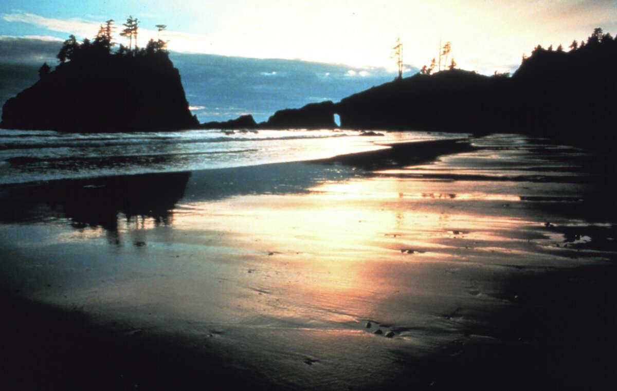 Sunset along an Olympic Coast beach.