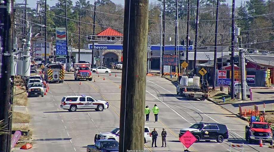 A gas leak has Rayford Road shut down in both directions Friday afternoon. Photo: Submitted Photo