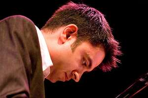 """Pianist and composer Vijay Iyer, one of 24 innovators in various fields awarded a MacArthur Foundation """"genius"""" grant last month, performs solo on a San Francisco Performances bill at the SFJAZZ Center Nov. 16. Photo by Hans Speekenbrink."""