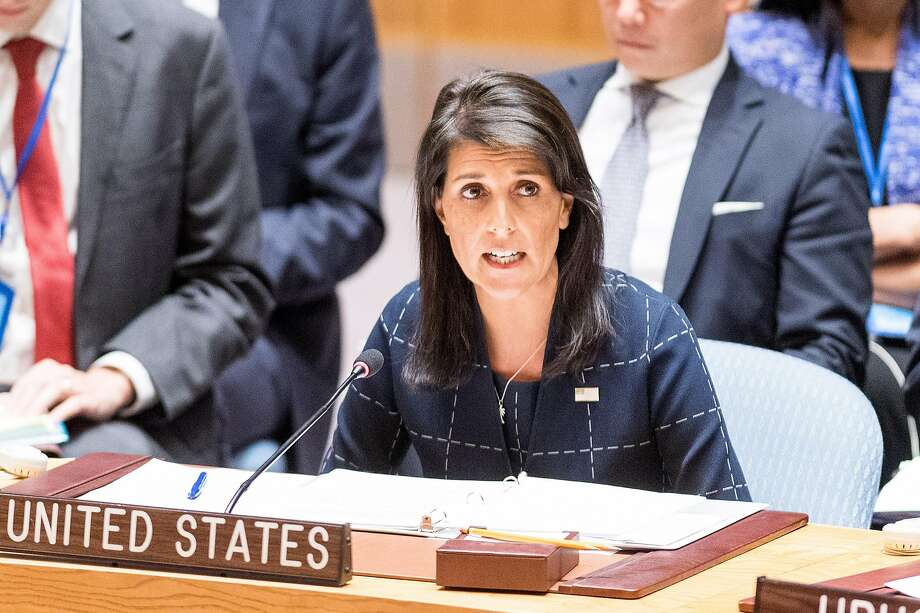 Nikki Haley, U.S. ambassador to the U.N., attends a meeting of the Security Council in September. Photo: Michael Brochstein, TNS